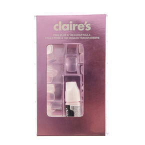 Clear Square Faux Nails - 100 Pack,