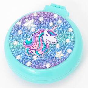 Miss Glitter the Unicorn Bling Pop-Up Hair Brush - Mint,