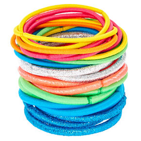 Glitter Rainbow Lurex Hair Ties - 30 Pack,