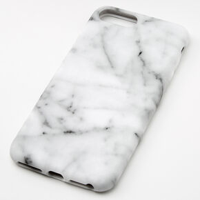 White Marble Protective Phone Case - Fits iPhone 6/7/8 Plus,
