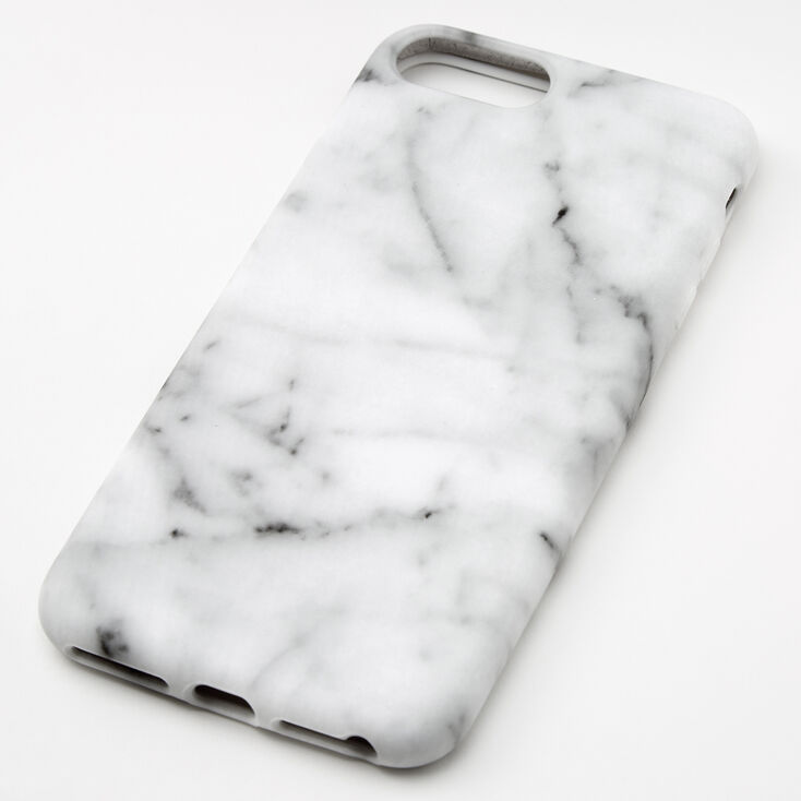 White Marble Protective Phone Case - Fits iPhone® 6/7/8 Plus,