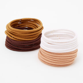 Neutral Tone Hair Ties - 30 Pack,