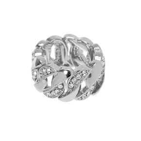 Silver Chain Stretch Ring,
