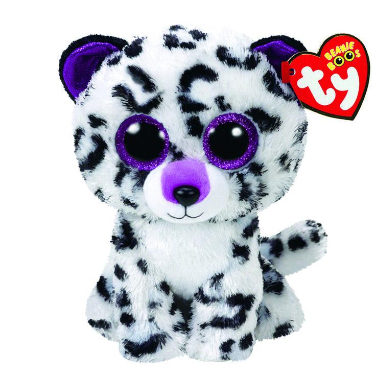 Peluche moyenne TY Beanie Boos Violet le léopard,