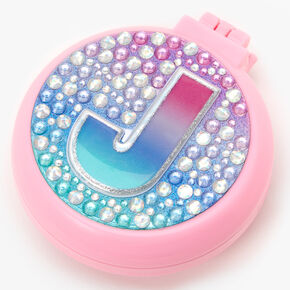 Initial Pop-Up Hair Brush - Pink, J,
