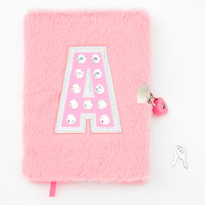 Giant Initial Furry Lock Diary - A,
