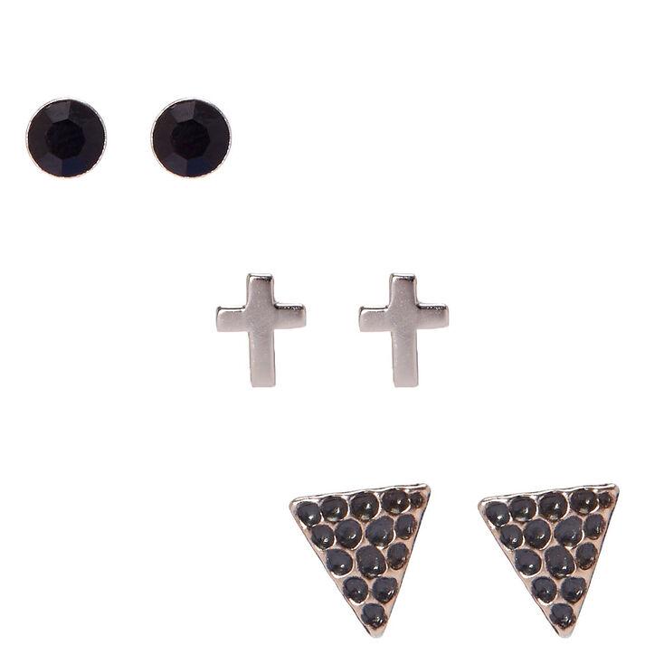 Sterling Silver Edgy Earrings