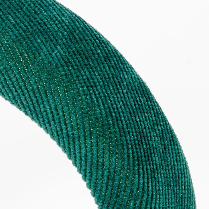 Serre-tête bouffant façon velours côtelé - Vert,