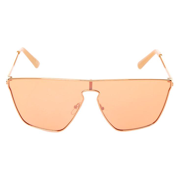 Shield Sunglasses - Rose Gold,