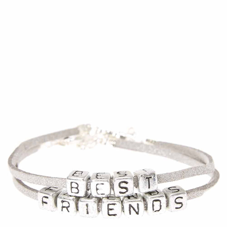 740d422ffe6da Best Friends Silver Cord with Block Beads Bracelets