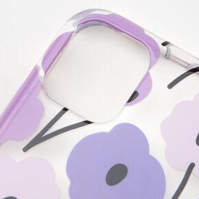 Retro Purple Flower Protective Phone Case - Fits iPhone 11,