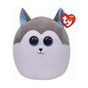 Ty® Squish-A-Boo Slush the Grey Husky Soft Toy,