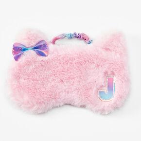 Initial Cat Sleeping Mask - Pink, J,