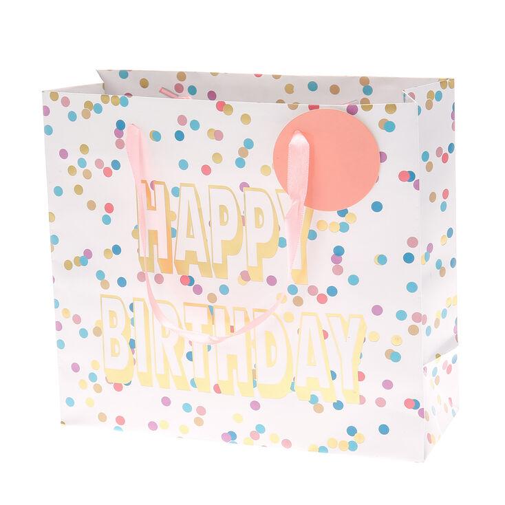 Pastel Polka Dot Happy Birthday Medium Gift Bag