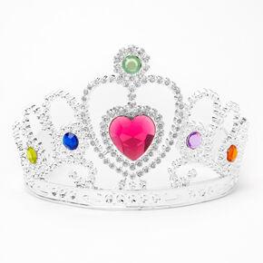 Claire's Club Princess Heart Charm Tiara - Pink,