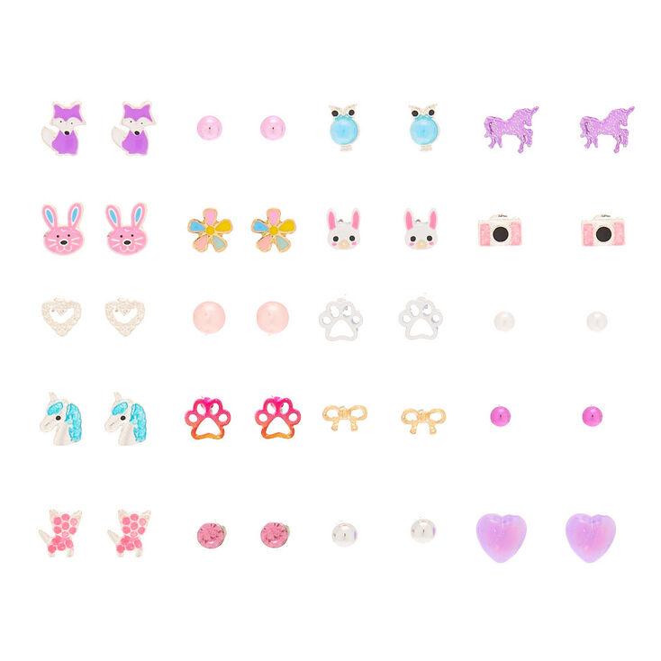 Fabulous Fauna Stud Earrings - 20 Pack,