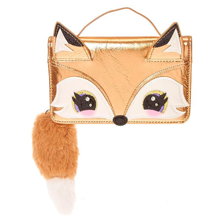 34a720edfd7 Francesca the Fox Golden Metallic Crossbody Wallet