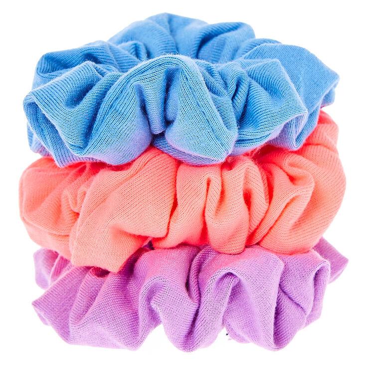 Small Bright Fun Hair Scrunchies - 3 Pack,