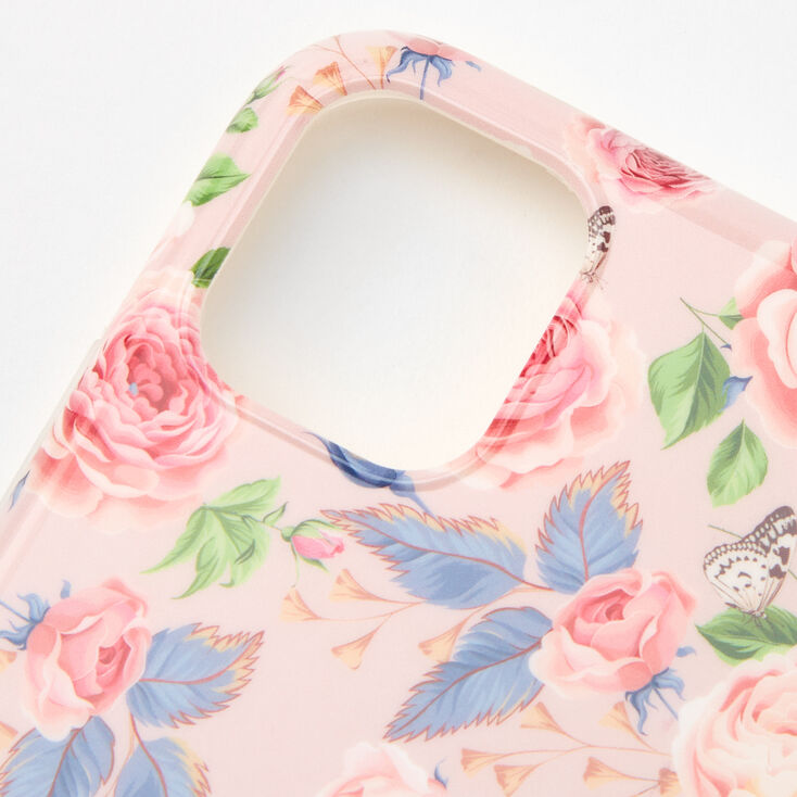 Pink Rose Floral Phone Case - Fits iPhone 11,