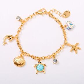 Gold Under the Sea Charm Bracelet - Mint,