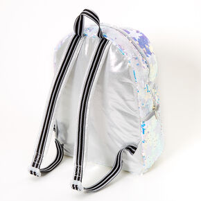 Holographic Reversible Sequin Star Medium Backpack,