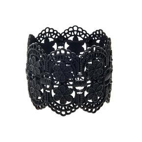 Vintage Filigree Stretch Bracelet - Black,