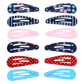 Claire's Club Mini Snap Hair Clips - 12 Pack,