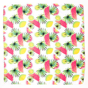 Neon Tropical Fruit Bandana Headwrap,