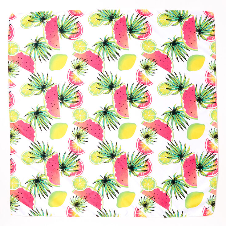 Tropical Fruit Bandana Headwrap,