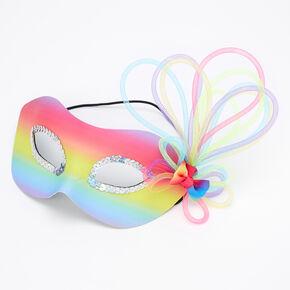 Masque pour bal masqué avec dégradé arc-en-ciel,