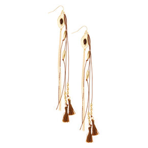 Go to Product: Gold & Brown Cord & Tassel Drop Earrings from Claires