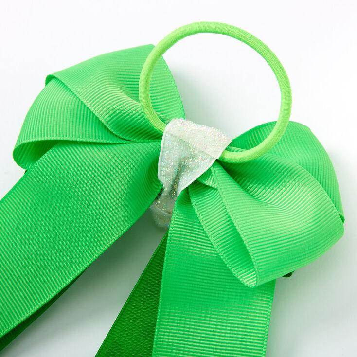 St. Patrick's Day Bow Ribbon Hair Tie - Green,