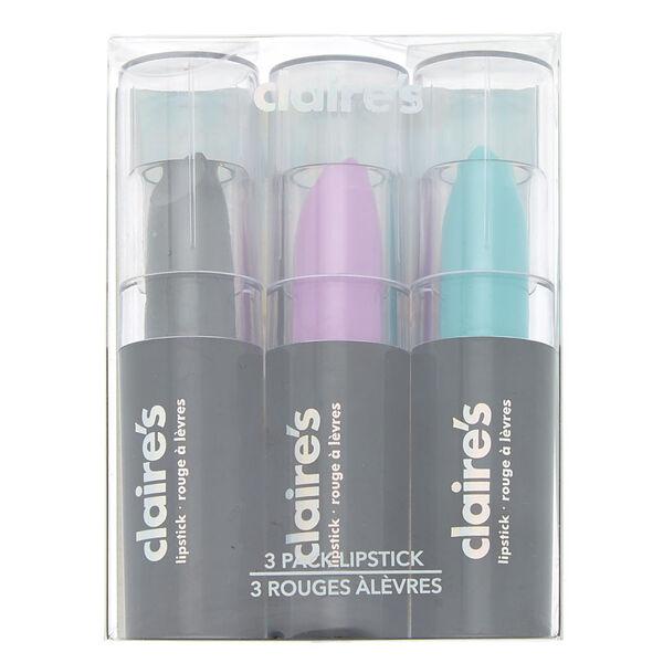 Claire's - lot de 3 rouges à lèvres cosmiques - 1