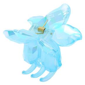 Icy Flower Hair Claw - Blue,