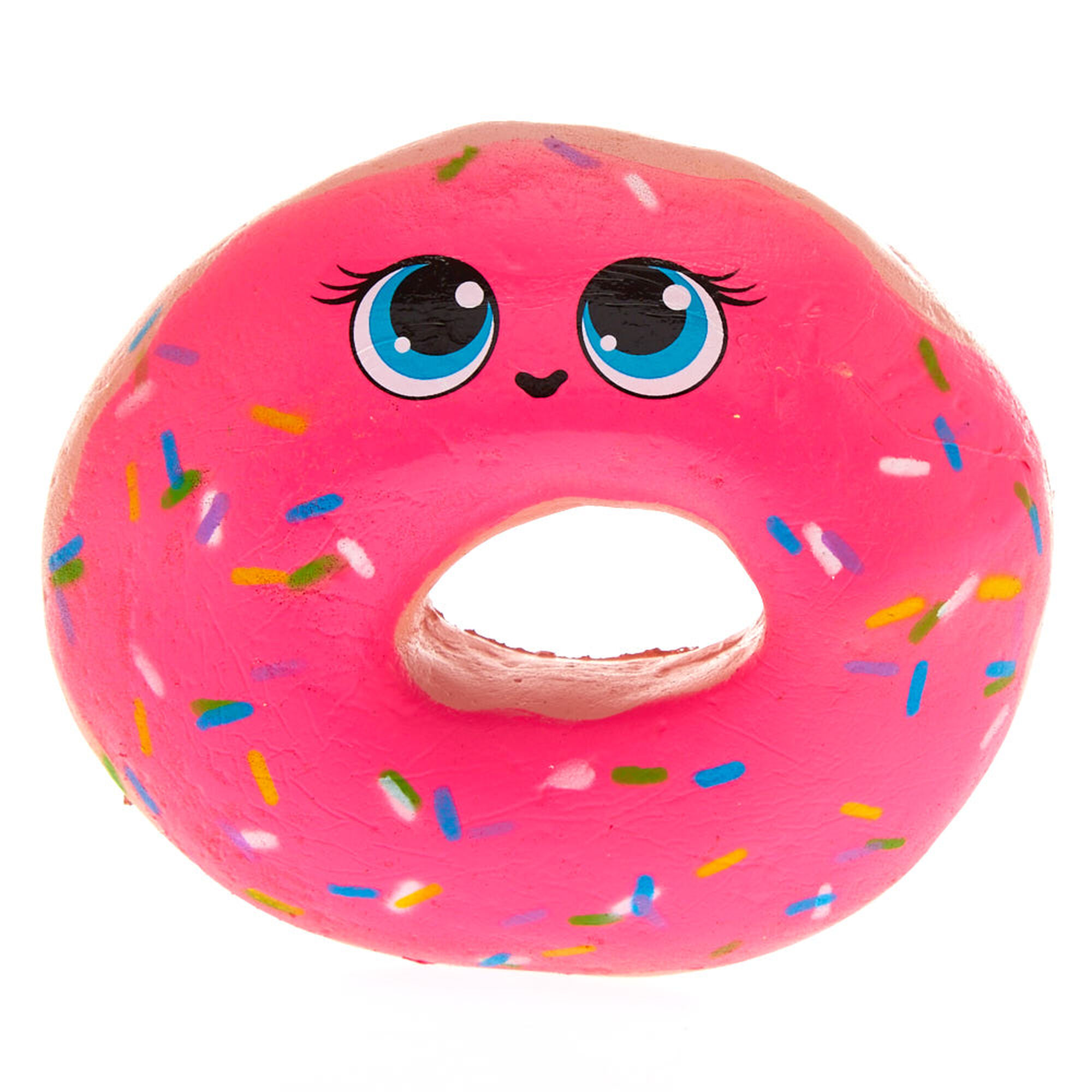 Squishy Donut Toy : Pink Sprinkled Donut Squishy Toy Claire s US