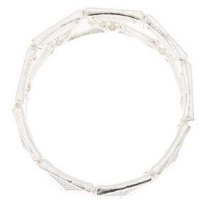 Silver Glitter Triangle Stretch Bracelet,