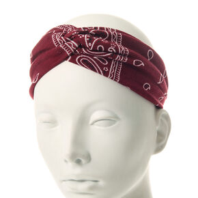 Burgundy Jersey Twist Headwrap,