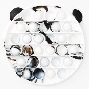 Pop Poppers Marble Panda Fidget Toy - White,