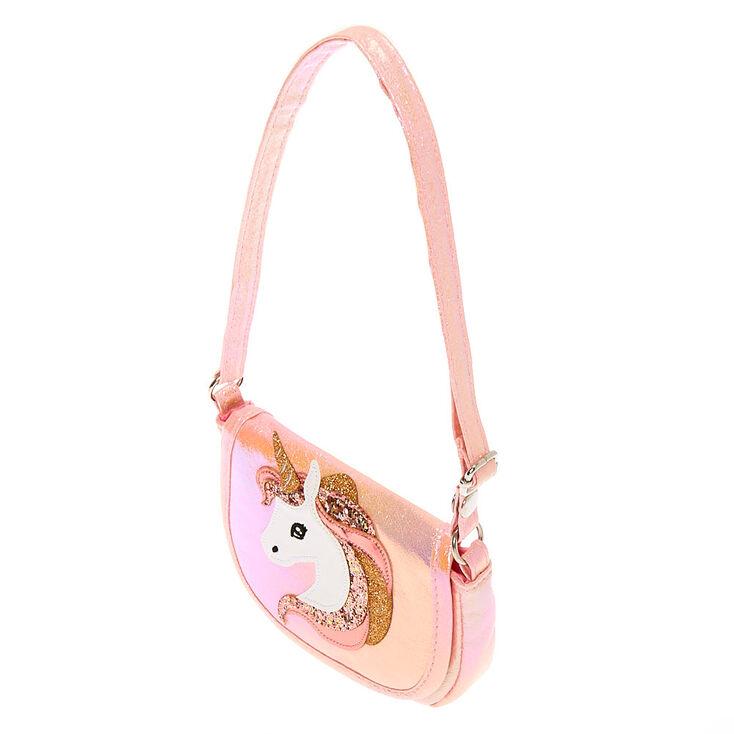 Claire's Club Unicorn Crossbody Bag - Pink,