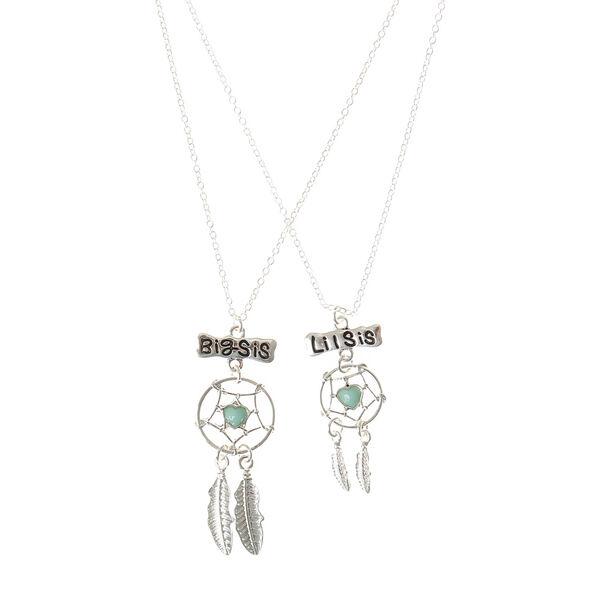 Claire's - 2 pack big sis lil sis dreamcatcher necklaces - 1