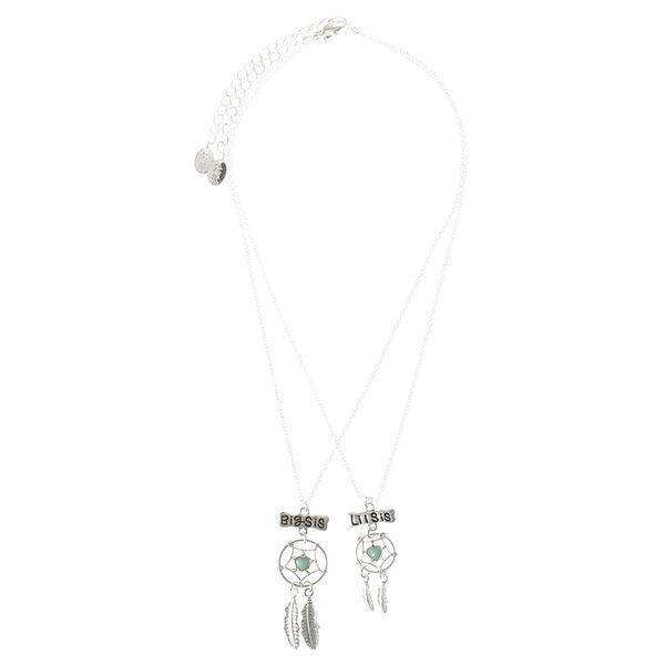 Claire's - 2 pack big sis lil sis dreamcatcher necklaces - 2