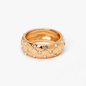 Gold Embellished Quilted Ring,