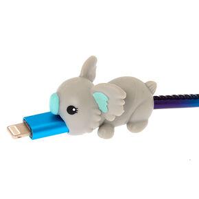 Protège-câble petit animal koala gris,