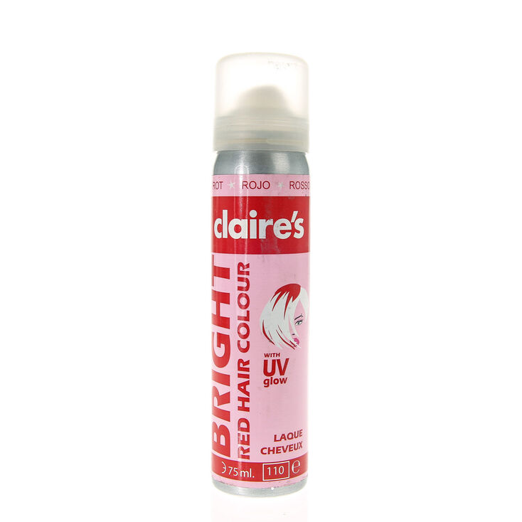 UV Glow Temporary Hair Color - Red
