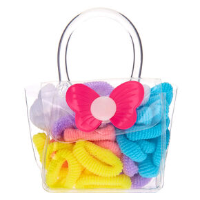 Claire's Club Pastel Hair Bobbles & Bag - 38 Pack,