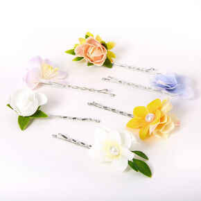Springtime Flower Hair Pins - 6 Pack,