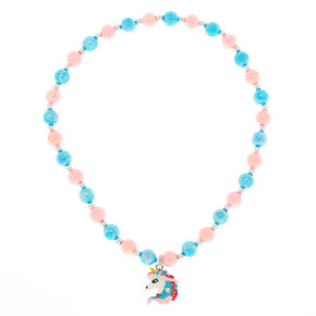 Claire's Club Unicorn Beaded Necklace,