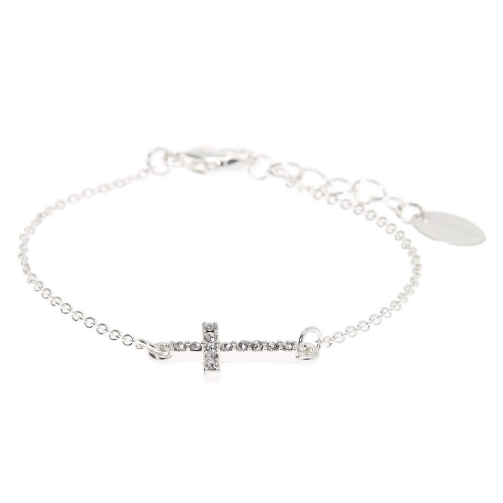Claire's Club Silver Cross Jewelry Set - 3 Pack,