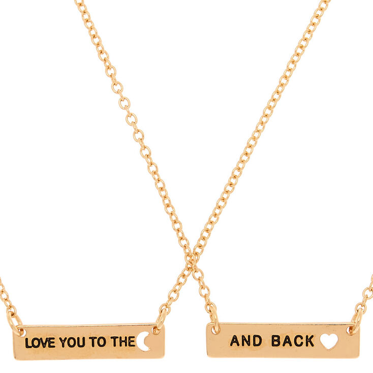 Gold To The Moon & Back Pendant Necklaces - 2 Pack,
