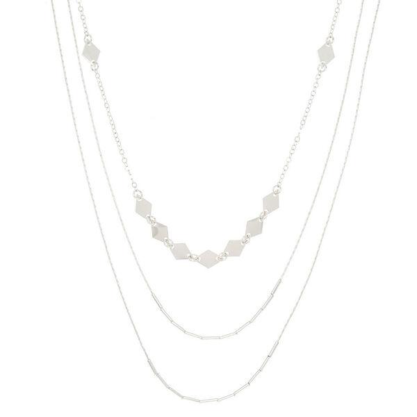 Claire's - diamond multi strand necklace - 1